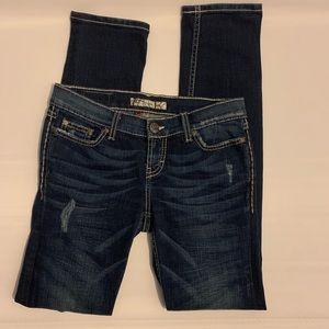 BKE  enim Buckle skinny stretch dark wash jeans 27